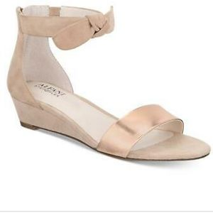 Alfani Leather Open Toe Ankle Strap, Size 7M